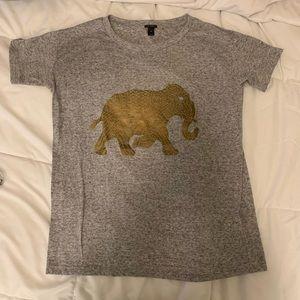J.Crew Gray Elephant Gold Shirt